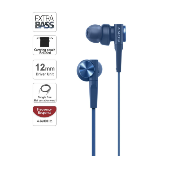 Sony MDR-XB55 Extra Bass In-ear Headset (Blue))