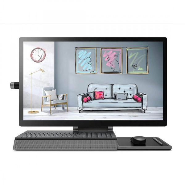 Lenovo F0E4000YIN Yoga A940 27ICB (Intel i7-9700 (9th Generation) / 16 GB DDR4 RAM / 2TB Hard Disk + 1TB SSD / AMD Radeon RX560 4GB Graphics / Wireless Keyboard & Mouse / Windows 10 Home With MS Office H&S 2019 / 27 Inch QHD IPS Multi Touch / All In One PC, Grey)