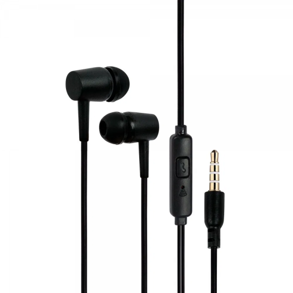 Primex PMX004 Wired Earphones with Mic (Black)