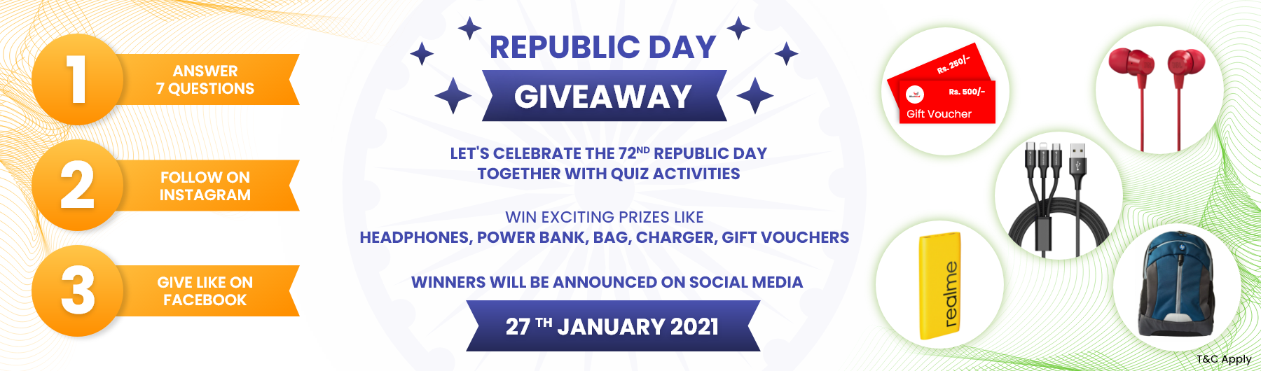 Republic Day Giveaway on windzard