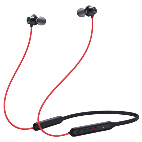 OnePlus Bullets Wireless Z Bass Edition Bluetooth Headset With Mic, Dual Pairing (Reverb Red)