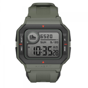 Amazfit Neo Smartwatch with Retro Look, Always-on Display, Heart Rate, Sleep Monitor, Phone call notification (Green)