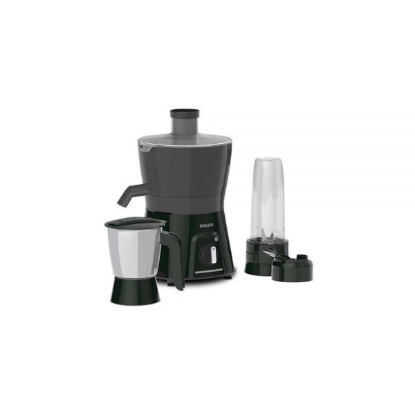 Philips HL7579/00 600 Watts Juicer Mixer Grinder with SS Jar, Blender Jar & Carry and Retention of antioxidants for 60 minutes (Carbon black and cashmere grey)