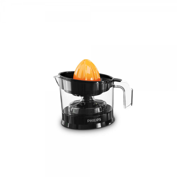 Philips HR2788/00 25 Watts Citrus Press with Pulp Selector, Drip Stop, Up to 80% Juice extraction (Black)
