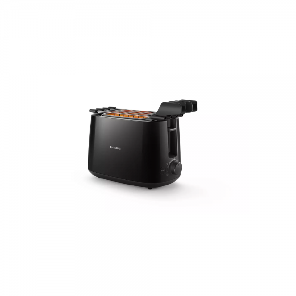 Philips HD2583/90 Pop Up Toaster with Dust Cover, 8 settings and sandwich rack ( Black)