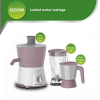 Philips HL7578/00 600 Watts Juicer Mixer Grinder with SS Jar, Blender Jar and Continuous juicing of 1000kgs of fruits (White with Lilac)