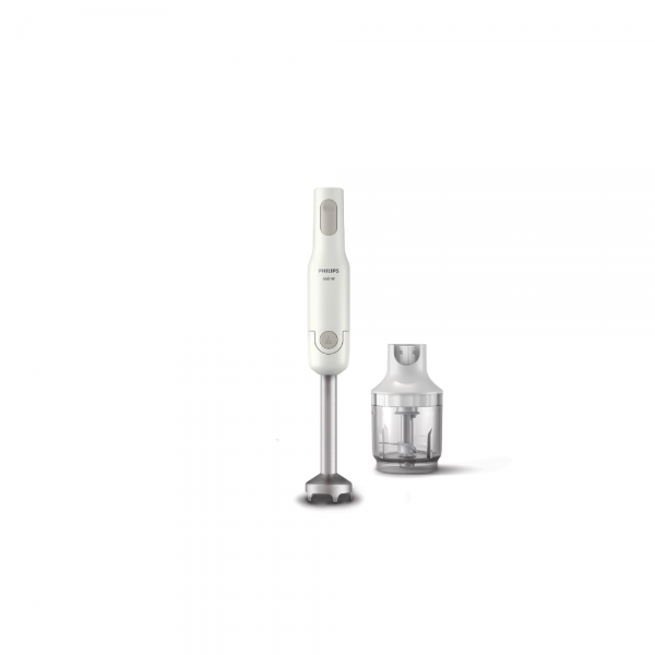 Philips HL1600/02 650 Watts Hand Blender with Chopper, sharp steel blades for smooth blending and Chopping (White)