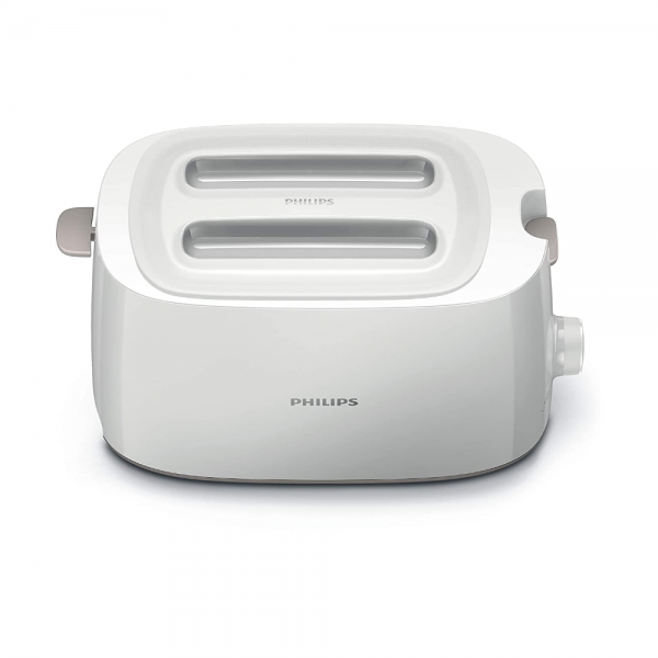 Philips HD2582/00 Toaster with 8 settings and integrated bun warming rack (White)