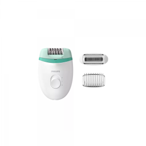 Philips BRE245/00 Epilator with Corded, 2 Speed Settings, Shaver Cap, Smooth skin for weeks  ( White and Green )