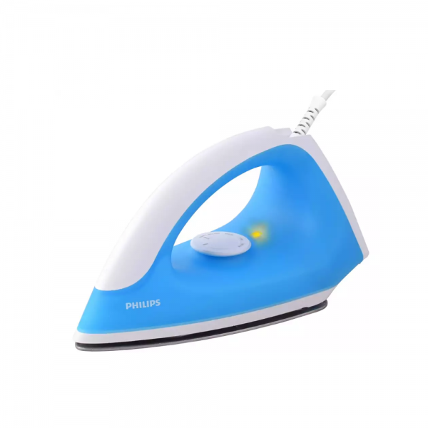 Philips GC090/20 750 W Dry Iron With Linished soleplate, Light weight, quality iron (Blue)