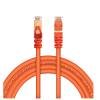 Live Tech Enzo CAT7 3 Meter Ethernet LAN Cable 10 Gigabit 600Mhz Speed SFTP 26AWG 7 * 0.12mm Bare Copper Patch Cord with Gold Plated RJ45 50U Connector for Modem Router PS3 PS4 CCTV- 9.8 feet cable (Orange)