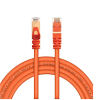 Live Tech Enzo CAT7 5 Meter Ethernet Networking Lan Cable 10 Gigabit 600Mhz SFTP 26AWG 7 * 0.12mm Bare Copper Patch Cord with Gold Plated Connector 50U for Modem Router PS3 PS4 CCTV – 16.4 Feet Cable (Orange)