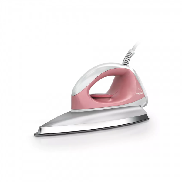 Philips GC102/01 750 W Dry Iron With Linished soleplate, Lightweight, quality iron (Pink)