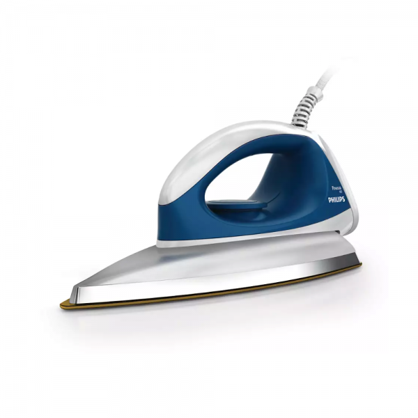 Philips GC103/02 750 W Dry Iron With Golden American Heritage soleplate, Lightweight, quality iron (Blue)