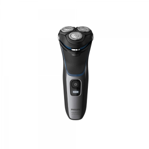 Philips S3122/55 Wet or Dry Shaver with Comfort Cut Blade System + 5D Pivot and Pop up Trimmer for Men ( Shiny Black)