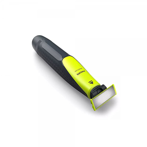 Philips QP2512/10 One Blade Hybrid Blister Pack for Easy Styling and Precise Edges for Men ( Lime green)