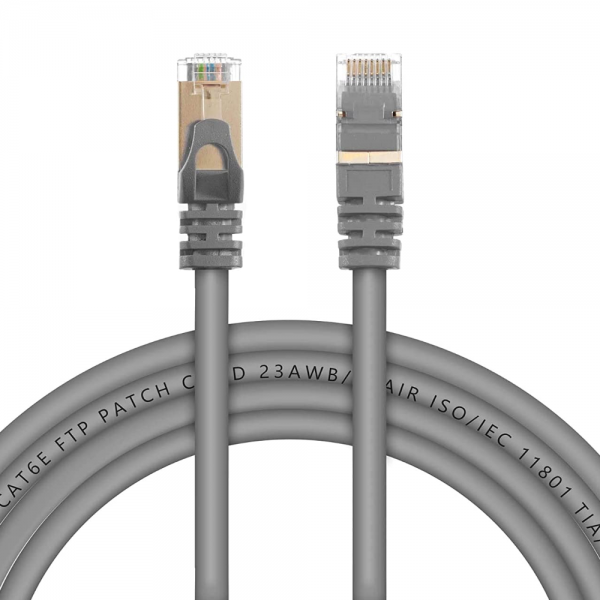 Live Tech CAT6E 15 Meter Lan Cable Ethernet FTP 23AWG 7 * 0.18mm CCA PVC Patch Cord with 50U CAT6E FTP Connector - 16 feet