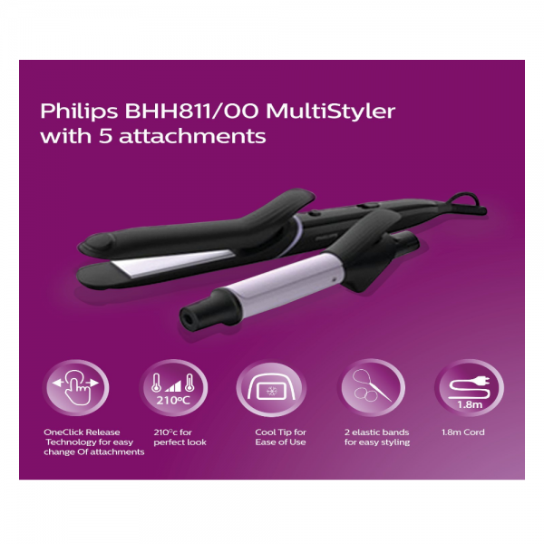 Philips BHH811/00 Styler with Multi-Styler 5 in 1 for easier and safer use ( Black)