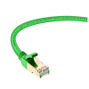 Live Tech Alex CAT8 3 Meter Ethernet Lan Cable 40 Gigabit 2000Mhz Speed SFTP 26AWG 7 * 0.12mm Bare Copper Patch Cord with Gold Plated Connector 50U for Modem Router PS3 PS4 CCTV – 9.8 feet (Green)