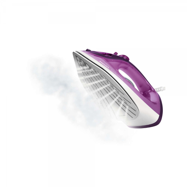 Philips GC2147/30 2400 W Steam Iron With Ceramic Coatingsoleplate, Speeds up your ironing in 3 ways (Purple)