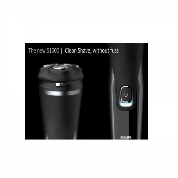 Philips S1223/45 Wet or Dry Shaver with Comfort Cut Blade System + 3D Heads and Pop up Trimmer for Men ( Deep Black)