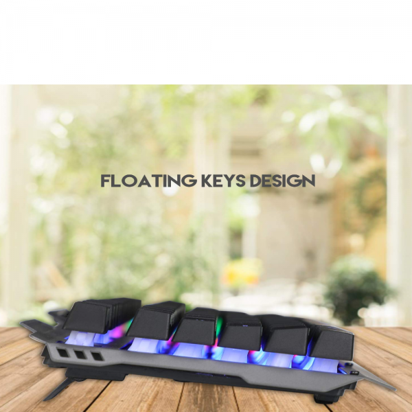 Live Tech Evon Wired Gaming Combo with LED Backlit USB Keyboard & Mouse Gold Plated USB, Braided Cable