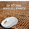 Live Tech Wireless 2.4G Optical Mouse with 12-Months Battery Life Polar (White)