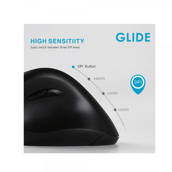 Glide Wireless Vertical Mouse