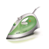 Philips GC1015/70 1200 W Steam Iron With Black American Heritage soleplate, Speed shaped soleplate (Green)