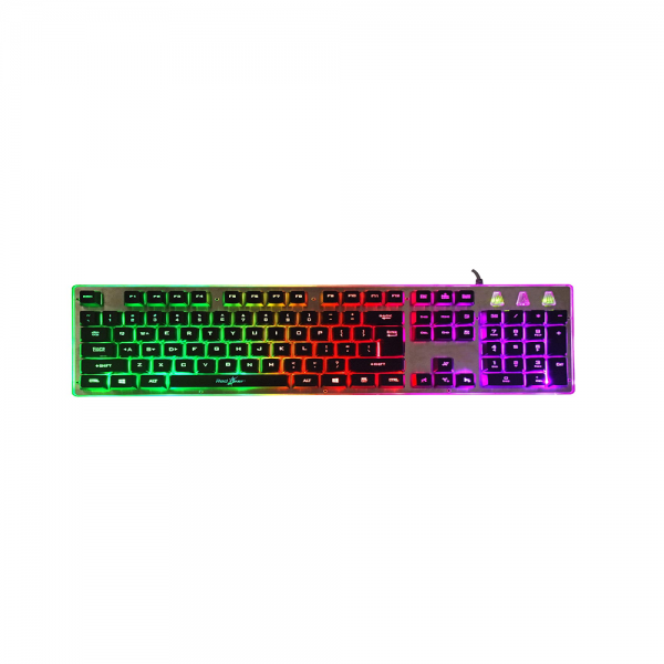 Redgear Grim Wired Semi-Mechanical RGB Backlit Gaming Keyboard with Floating Key Cap and Double Injection keycaps for PC Gaming