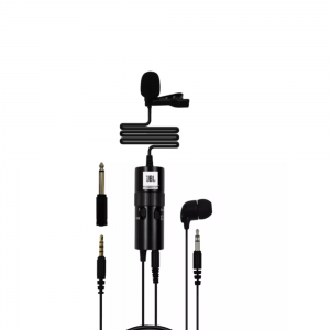 JBL Commercial CSLM20B Omnidirectional Lavalier Microphone with Dubbing, Recording (Black)