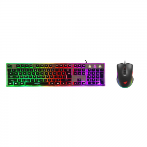 Redgear G-20 Gaming Keyboard and Mouse Combo with RGB Backlit Keyboard and 4800 dpi RGB Mouse (Black)
