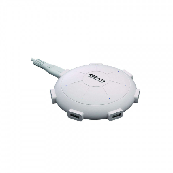 Portronics UFO Home Charger 6 Ports 8A Charging Station (White)