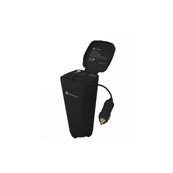 Portronics Car Power One 200 W Car Charger (Black)
