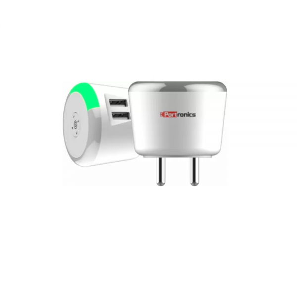 Portronics Adapto 464 2.4 A Charger with Time Control (White)