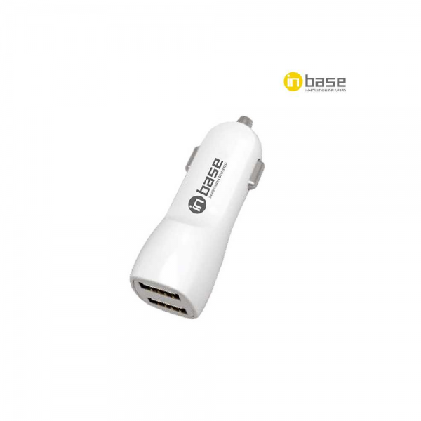 InBase Car Charger - 3.1A Dual USB with 2 in 1 Cable