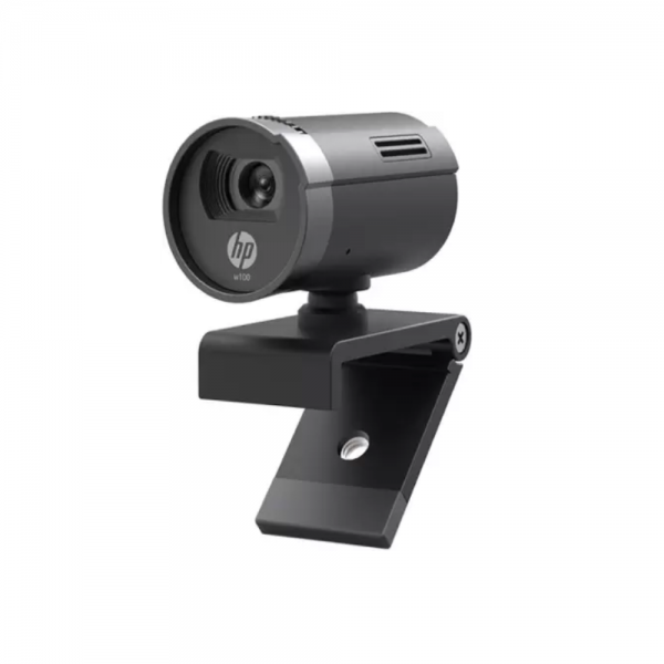 HP W100 480p/30 Fps Webcam, Built-in Mic, Plug and Play, Wide-Angle View for Video Calling, Skype, Zoom, Microsoft Teams (Black)