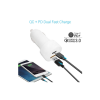 portronics Car Power PD Car Charger with QC+Type -C Output (White)