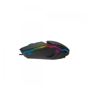 Redgearred Gaming Mouse with LED, Lightweight, Durable and DPI Upto 2400 for Windows PC Gamers (Blac
