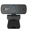 HP W300 1080p/30 Fps FHD Webcam, Built-in Dual Digital Mic, Plug and Play, Wide-Angle View for Video Calling, Skype, Zoom, Microsoft Teams (Black)